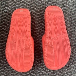 Nike Shoes - Coral Pink Nike Slides